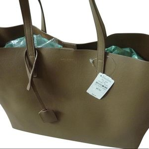 "Shopping W ""East-west"" Leather Tote"